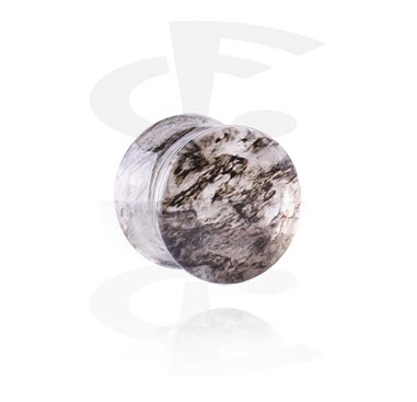 Tunnels & Plugs, Double Flared Plug, Glass
