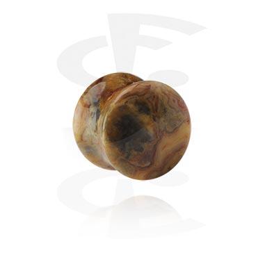 Tunnels & Plugs, Gemstone Double Flared Plug, Stone