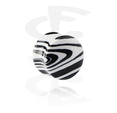Double flared plug zebrato