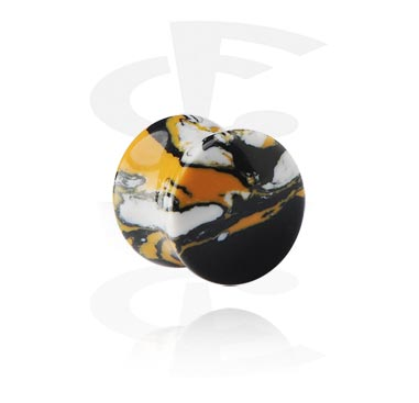 Tunnels & Plugs, Double Flared Plug, Synthetic Stone
