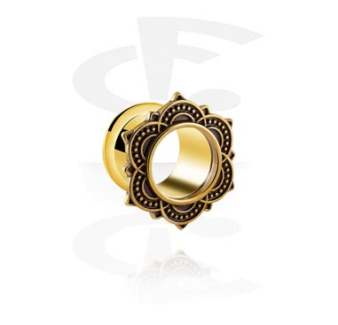 Tunnels & Plugs, Vintage Flesh Tunnel, Gold-plated