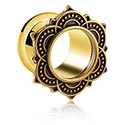 Tunely & plugy, Vintage Flesh Tunnel, Gold-plated