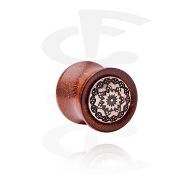 Wood Plug with inlay