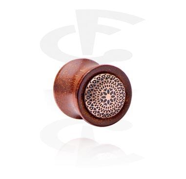 Holz-Plug mit Inlay