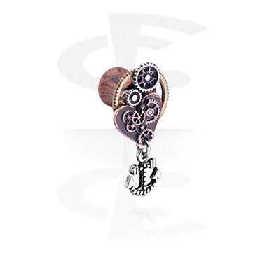 Plugg med Steampunk Design och anchor pendant