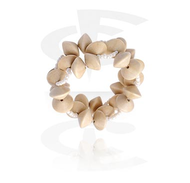 Armband, Modearmband, Blandade träsorter, Konstgjorda pärlor, Gummiband