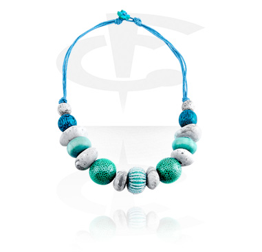 Halsband, Modehalsband, Blandade träsorter, Vaxtråd