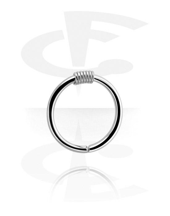 Piercingringen, Continuous ring, Chirurgisch staal 316L