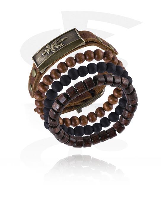 Náramky, Fashion Bracelet, Kůže, Imitace kůže