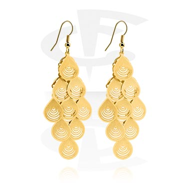 Náušnice, Earrings, Gold Plated Brass