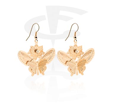 Kolczyki, Earrings, Plated Brass, Rosegold Plated Brass