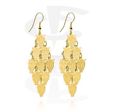 Náušnice, Earrings, Plated Brass