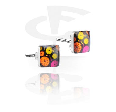 Ear Studs with Design Pattern