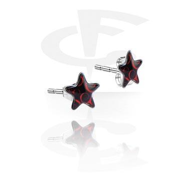 Серьги - гвоздики с лого