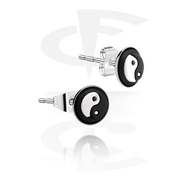 Ear Studs with Silicone Picture Disk