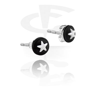 Náušnice, Ear Studs, Surgical Steel 316L, Silicone