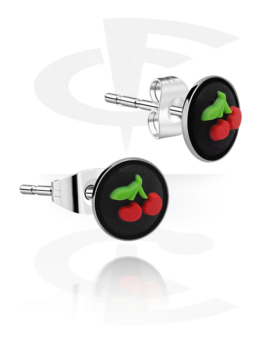 Kolczyki, Ear Studs, Stal chirurgiczna 316L, Silikon