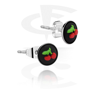 Kolczyki, Ear Studs, Surgical Steel 316L, Silicone