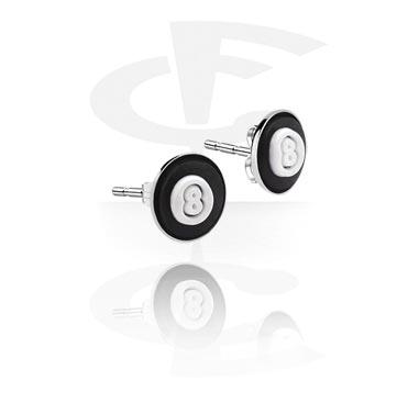 Studs d'oreille avec accessoire en silicone
