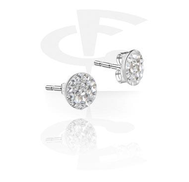 Jewel-Paved Ear Studs