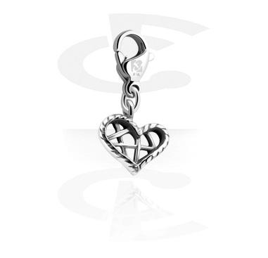 Porte-Charms, Charm pour bracelets charm, Acier chirurgical 316L