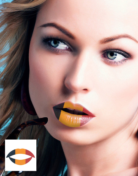 Lip Tattoos, Lippen-Tattoo, Wassertransferpapier, Tinte