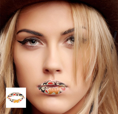 Lippen-Tattoo