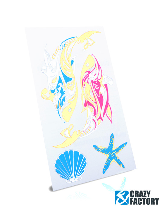Temporary Tattoos, Neon-Tattoo, Water Transfer Paper, Ink