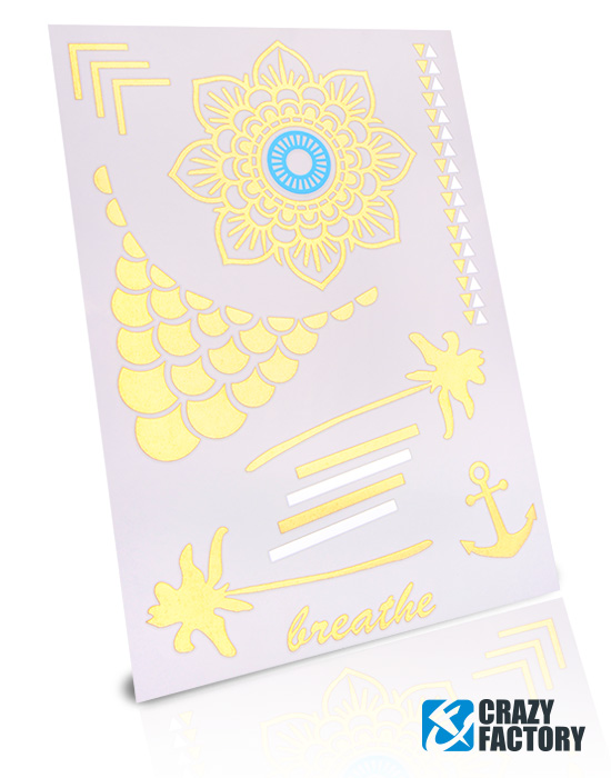 Neptattoos, Neon-Tattoo, Water transfer paper, Ink