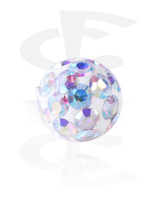 Kulor, stavar & mer, Kula med kristallstenar, Kirurgiskt stål 316L