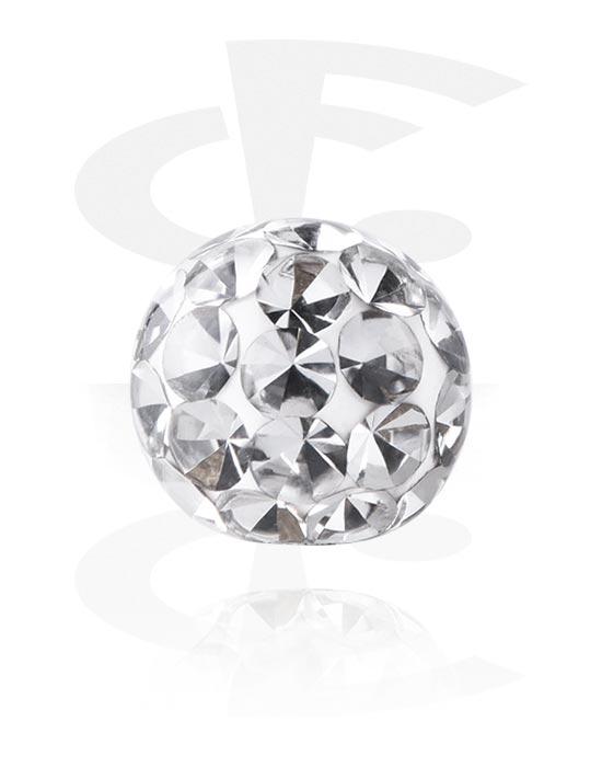 Kulki, igły i nie tylko, Ball z crystal stones, Stal chirurgiczna 316L