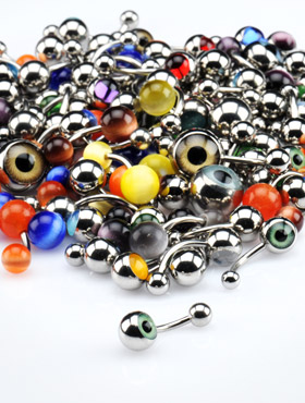 Eye Ball and Cat Eye Jeweled Bananas