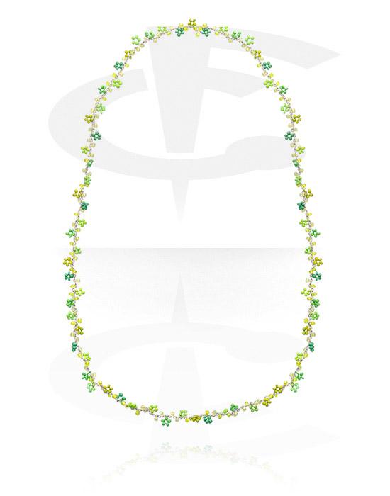 Naszyjniki, Fashion Necklace, Drewno, Sznur nylonowy