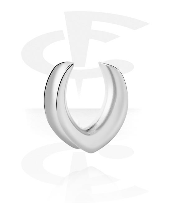 Tunnels & Plugs, Half Tunnel, Stainless Steel 316L
