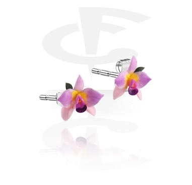 Kolczyki, Ear Studs, Clay, Surgical Steel 316L