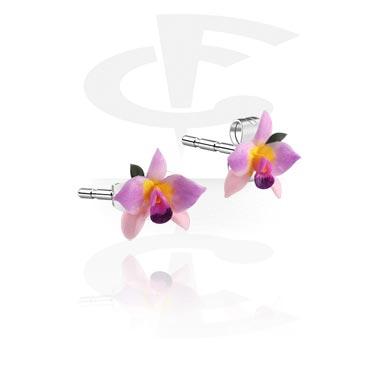 Náušnice, Ear Studs, Clay, Surgical Steel 316L