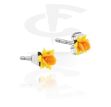 Boucles d'Oreilles, Boucles d'oreilles, Argile, Acier chirurgical 316L