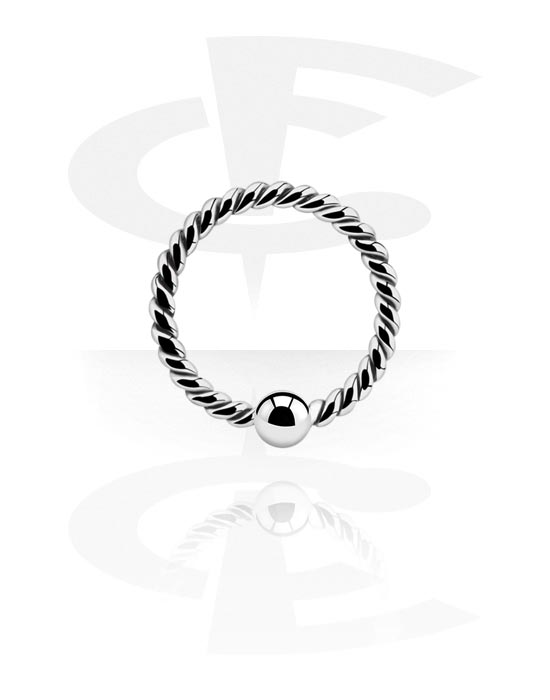 Piercing Rings, Ball Closure Ring with fixed ball, Surgical Steel 316L