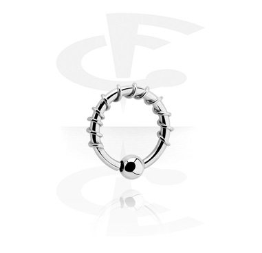 Kółka do piercingu, Ball closure ring z fixed ball, Surgical Steel 316L