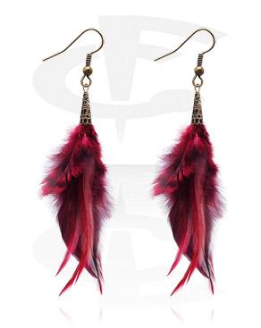Earrings, Studs & Shields, Earrings, Surgical Steel 316L, Feather