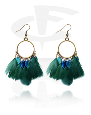 Náušnice, Earrings, Surgical Steel 316L, Feather