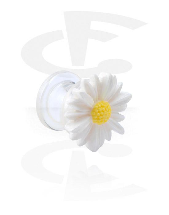 Tunnelit & plugit, Tunnel kanssa flower attachment, Akryyli