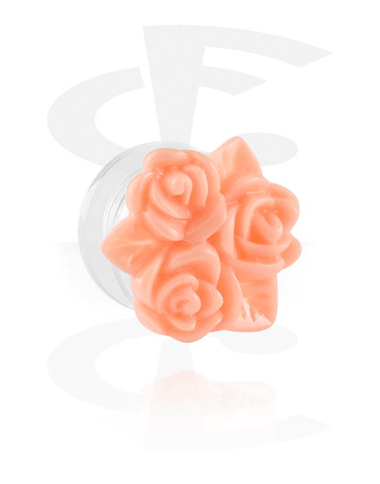Tunely & plugy, Tunnel s flower attachment, Akryl
