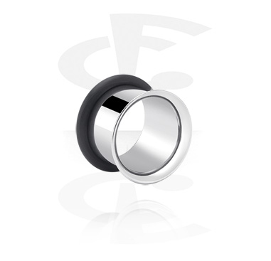 Tunnels & Plugs, Single Flared Tunnel, Surgical Steel 316L
