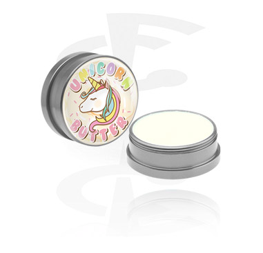 """Cleansing and Care, Conditioning Creme and Deodorant for Piercings """"Unicorn-Butter"""", Aluminium Container"""