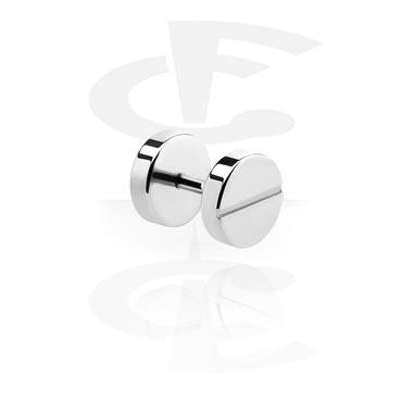 Fake Piercings, Fake Plug, Chirurgisch staal 316L