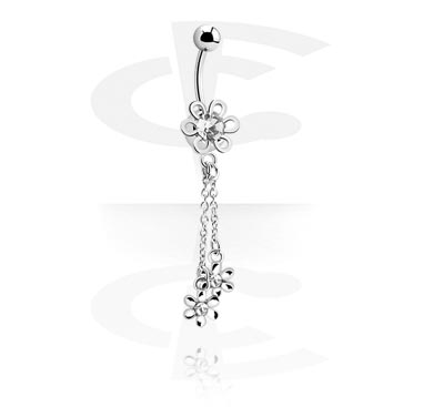 Banana with Flower Charm<br/>[Surgical Steel 316L]