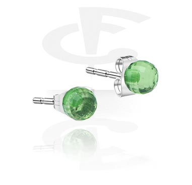 Acrylic Faceted Ball Stud