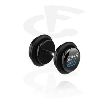 Lažni piercing nakit, Black Fake Plug, Acrylic