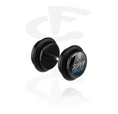 Falešné piercingové šperky, Black Fake Plug, Acrylic